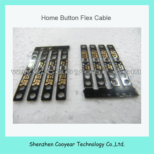 100pcs/lot free shipping dhl ems for ipad home button flex cable original new(China (Mainland))