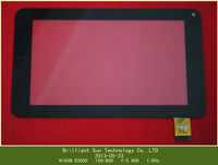 "Size 186X111  Free shipping 7'' inch touch screen touch panel digitizer glass for 7"" inch Tablet PC All Winner A13 MF-288-070F"