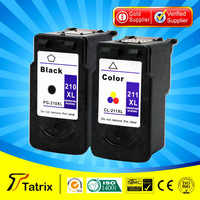 Free Shipping ,  PG210XL +CL210XL Ink Cartridge For Canon PG-210 XL CL-211 XL for Canon MP240 MP250 120ML Printer Ink Cartridge