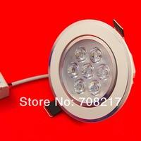 High Power 21W ,7x3W LED Dimmable ceiling light,12pcs/lot,warm white/cold white,free shipping by DHL