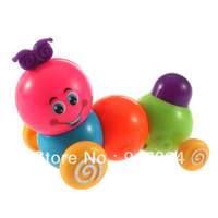 Free shipping Funny Cute Baby Kids Wind Up tinny toys Colorful Inchworm Twist Forward Movement toy