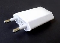 New EU Europe Travel Wall USB Charger Adapter For iPhone 4 5 free shipping