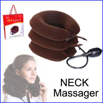 Cervical Vertebra Tractor Massager Nap Pillow Traction Massage Pillow Relief Neck Back Shoulder Pain Free shipping