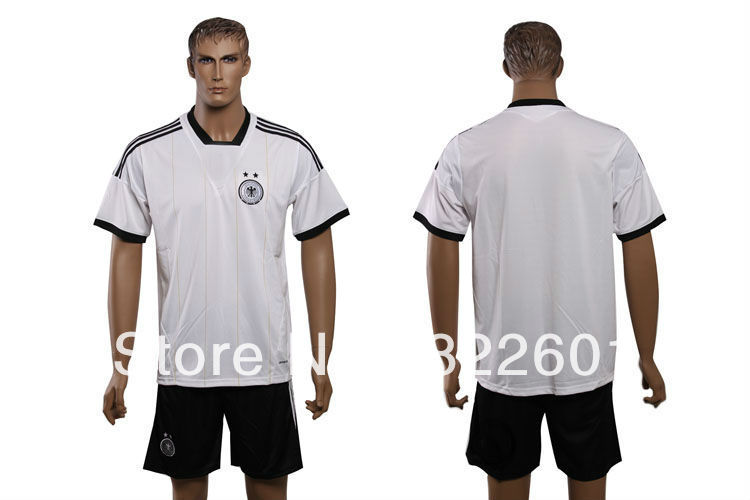 13/14 euro Germany white best Thailand quality soccer football jerseys, soccer Uniforms, free shipping(China (Mainland))