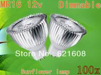 100X High power MR16/GU10/GU5.3 9W AC/DC12V power led sunflower bulb led lamp Warm/cool/pure white Real CREE Free shipping