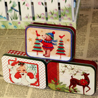 6pcs/lot Christmas Gift Imprint Tin Box/ Storage Tin Case/ Storage Box For Collectiing Small decorations/Small Ornament