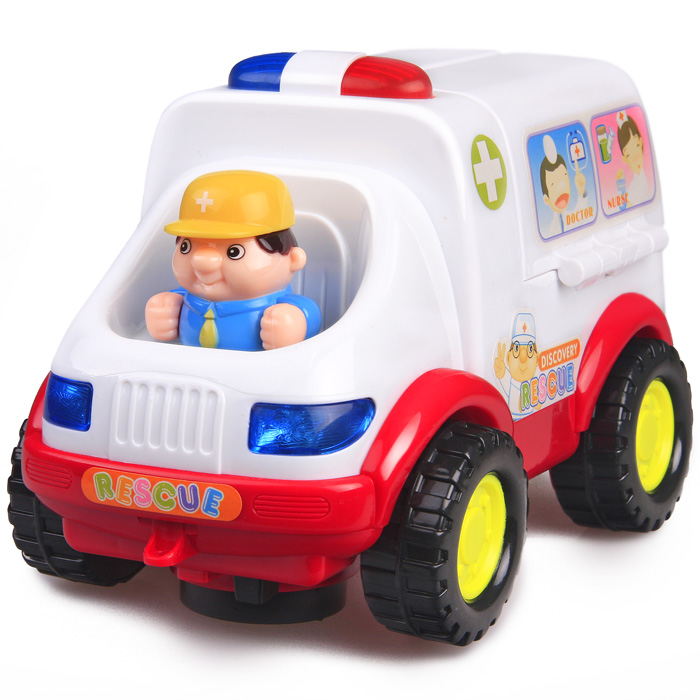 Department of music 836 ambulance electric toy car toy infant toys ambulance car toy(China (Mainland))