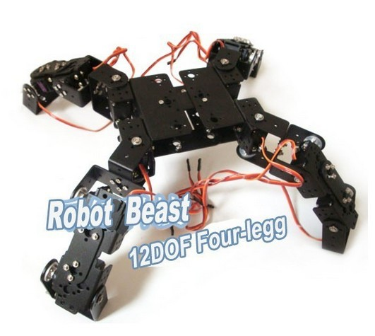 Aluminium Robot Beast Mount Kit 12 DOF Four Legg for Arduino Compatible(China (Mainland))
