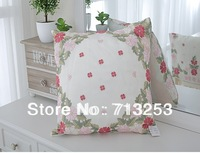 NO.119-PA  free shipping new floral fashion luxury beautiful cheap pillow case for living loom sofa bed and car