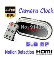 Fashion Full HD 1080P Mirro Digital Clock mini DVR Alarm Hidden Camera HDMI Mini camcorder 12 hours recording Multifunction