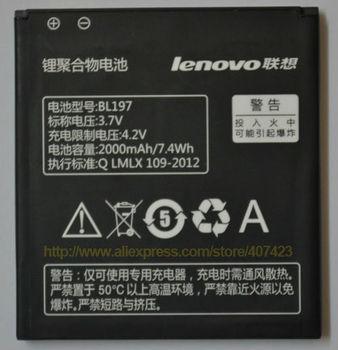 100% Original lenovo a820 batteryS889T S720 A800 A798T Battery BL197 (2000mAh) for Lenovo MTK6577 MTK6589 mobile phone