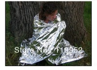 """Waterproof Emergency Rescue Space Foil Thermal Blanket 83""""X 51"""" Sliver New 2PCS/LOT"""
