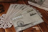 .fashion antique lovely sweet fashion gift best wish envelopes set.mini envelop.6 pcs per set.novelty TOOLS. stationery. new arr