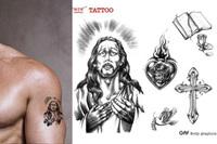 Tattoo stickers jesus - combination waterproof limited edition