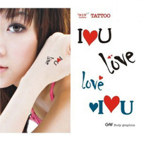 Tattoo stickers love u - fashion waterproof
