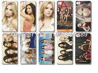 star models wholesale pretty little liars hard white case cover for iphone 4 4G 4S 10pcs/lots+ free shipping