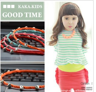 2 Colors Korean boutique children fashional cool hair accessory Hair bands headband for girls wholesale Free shipping(China (Mainland))