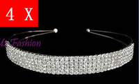 Wedding Brides Brides Maid Crystal New Arrival  Tiara 5Rows Vintage Bling Hairbands