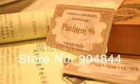 Harry potter hogwarts  platform  express train ticket admission notification card  20pcs/lot  Christmas gifts, collectibles