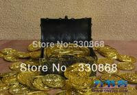 Small pirate treasure box treasure chest pirate child props (Gold coin exclusive)