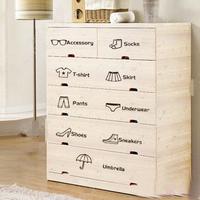 free shipping  classification kitchen cabinet drawer wardrobe stickers cartoon wall stickers wardrobe stickers