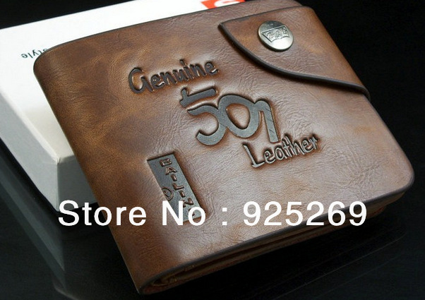 Special promotion Free shipping men wallet & fine Leather top Cente Bifold Purse brand wallet high quality free shipping(China (Mainland))