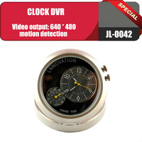 Table Alarm Clock with Hidden Camera/Clock DVR with Vedio Resolution 640X480, can be Motion Detection, Free Shipping JL-0042