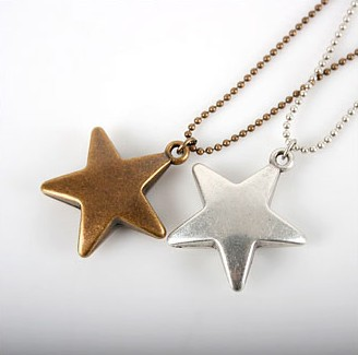 Min.order is $15(mix order) Free Shipping & Korean Jewelry Lucky Star Sweater Chain Vintage Five-star Long Necklace XY-N202 N203(China (Mainland))