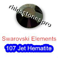 ss16 GENUINE Swarovski Elements Jet Hematite ( 107 ) 144 pcs ( NO hotfix Rhinestone ) Crystal Glass 16ss 2058 FLATBACK Bulk(Hong Kong)