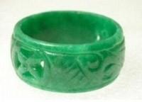 New Pretty Woman classic green jade ring size 7 # 8 # 9 #