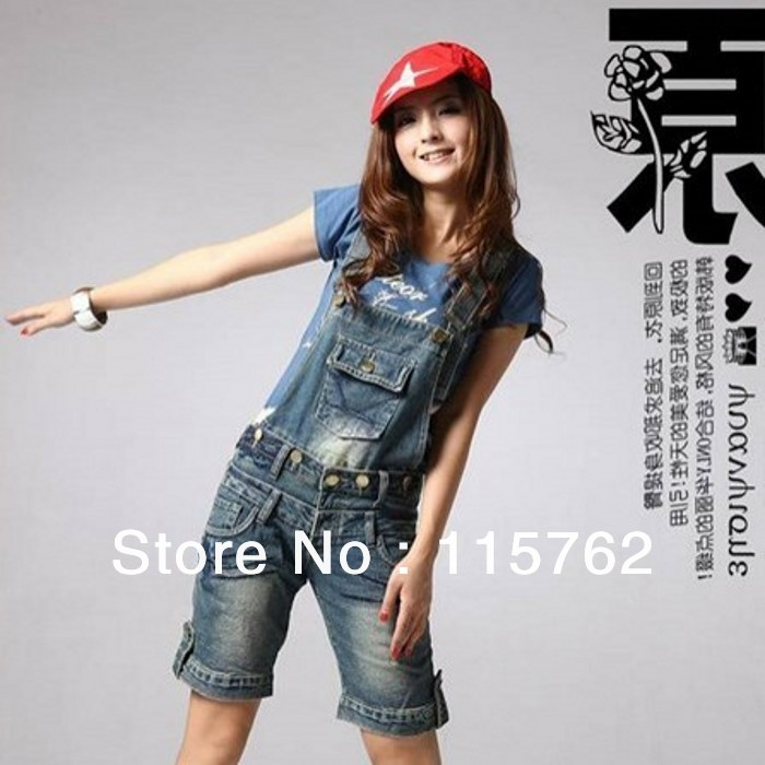 suspenders jeans loose casual bib pants capris pants 8069(China (Mainland))