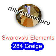 ss16 GENUINE Swarovski Elements Greige ( 284 ) 144 ( NO hotfix Rhinestone ) Round Clear Glass 16ss 2058 FLATBACK Crystal Bulk
