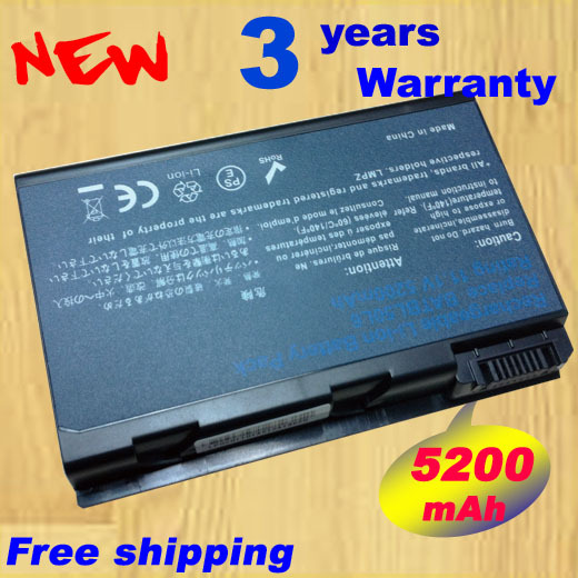 5200mAh Battery for Acer Aspire BATBL50L6 3100 5100 5610 5610 9120 BATBL50L4 BATBL50L6,free shipping+free shipping(China (Mainland))