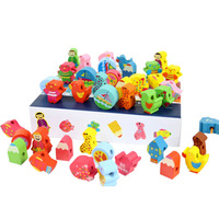 6 baby educational toys bead cartoon beads toy
