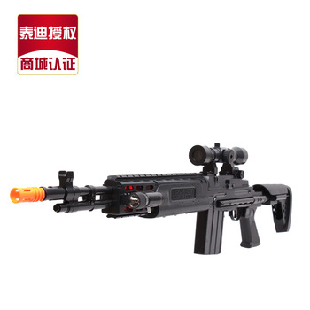 Teddy child electric gun 1 1 artificial gun belt infrared shock gun toy gun sniper rifle
