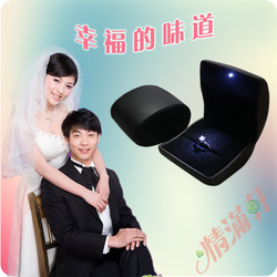 Hot-selling led lighting box quality light ring box wedding ring box ring box(China (Mainland))
