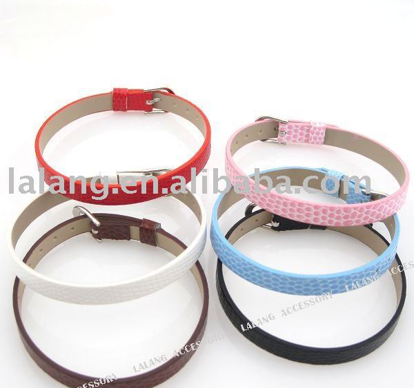 42x Mixed Belt Leather Buckle Bracelet 22.5cm Fit 9mm bead 190061(China (Mainland))