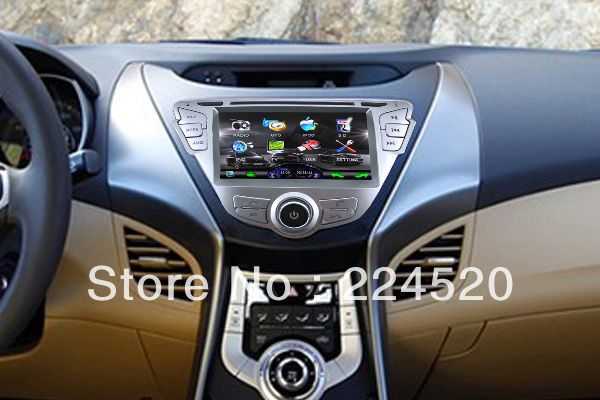 "7"" In Dash 2-Din Car DVD Player for Hyundai Elantra Avante MD 2011-2012 with GPS Navigation Stereo Radio Bluetooth TV Stereo(China (Mainland))"