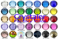 wholesales  Free shipping  NON HOT FIX STONE 1440pcs 6ss-2.0mm MIXED color flat back crystal nail art  rhinestone