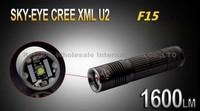 5PCS/LOT SKY-EYE CREE XML U2  5-Mode 1600 Lumen 18650/26650/3xAAA LED Flashlight Torch F15