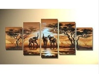 elephant sun home decoration Modern Abstract landscape oil painting(no+framed) *-*21