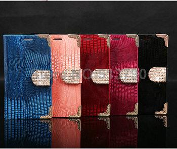 luxury flip bling crystal rhinestone button Crocodile hard leather case cover wallet for Samsung Galaxy S3 SIII i9300 B311