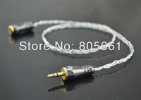 Hi End Audio High Performance Earphone Silver 3.5m Male To 3.5mm Female Extension Headphone cable