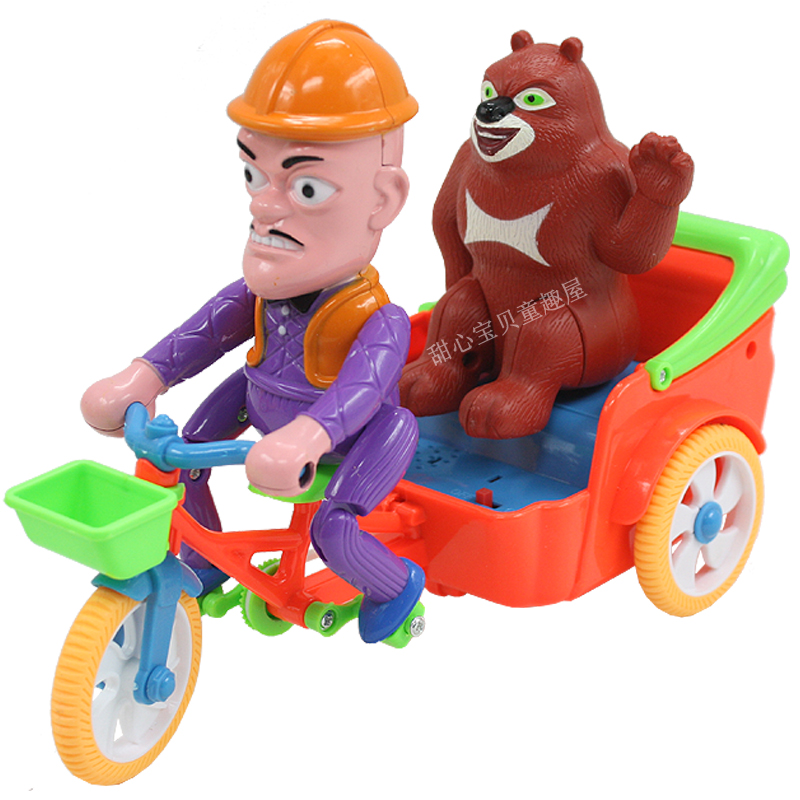 Toy set electric flash bare-headed tricycle car diner !(China (Mainland))