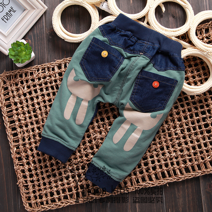 6 - 7 - 8-9-10 spring baby child male female child trousers baby 2013 harem pants(China (Mainland))