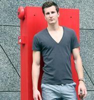 All saints male solid color slim t-shirt deep v neck V-neck 100% cotton short-sleeve fashion spring