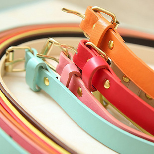 Belt female all-match women's candy color thin belt decoration fashion strap female(China (Mainland))