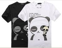 2012 Men T-shirt short-sleeve cartoon panda pattern male short-sleeve T-shirt personality fashion