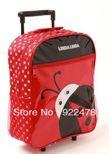 Cute children's primary school trolley bags shoulder bag baby backpack cartoon casual bags,Free shipping(China (Mainland))