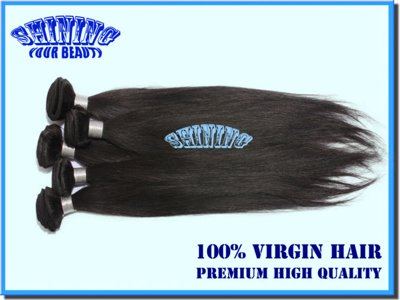 "Top Selling Good Quality Indian Virgin Remy hair straight 5pcs/lot 12""-30"" Free shipping unprocessed remy hair can dye colors(China (Mainland))"